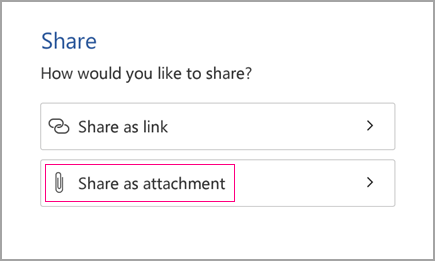Share as attachment