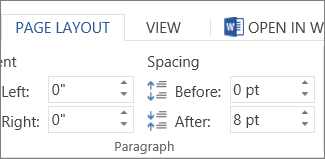 Paragraph spacing boxes