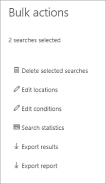 On the Bulk Actions page, click Export results