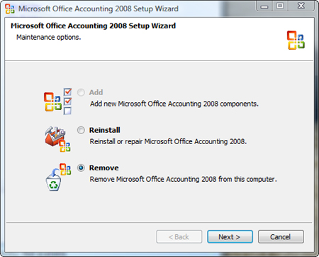 Remove Office Accounting