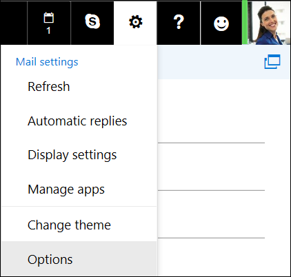 Outlook on the web Settings Options