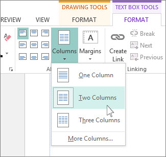Create two column publication