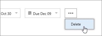 Delete a task
