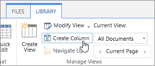 SharePoint Online Library create column link