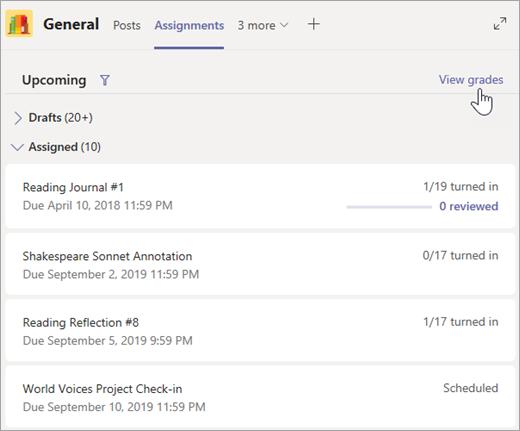 Select View grades.