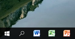 Shortcuts to Office applications added to Windows taskbar