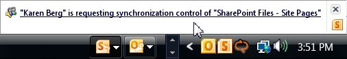Request for synchronization control