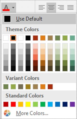 Font color menu in Visio.