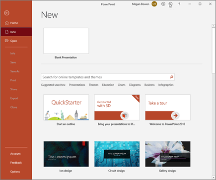Create new PowerPoint