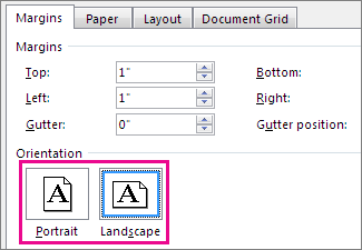 landscape templates for word