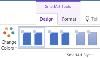 The Change Colors button on the SmartArt Tools Design tab