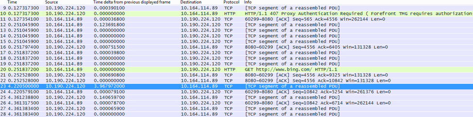 In Wireshark, the 'Time delta from previous displayed frame' column can be made via right-clicking the field of the same name in the frame details and selecting Add as Column.