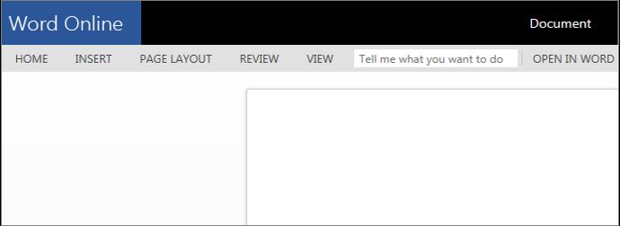 Opening Word Online