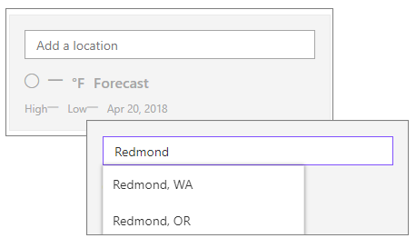 Add a location in weather web part