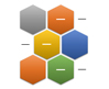 Alternating Hexagon List SmartArt graphic layout