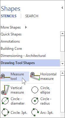Measure the distance between two points - Visio