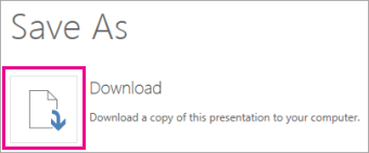 Download a presentation to your local drive