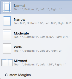 Set Or Change Page Margins In Word Word For Mac