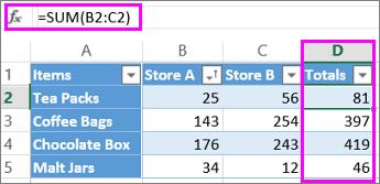Calculated column