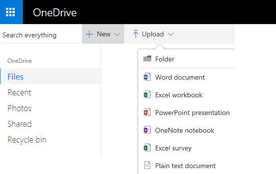 Using Office for the web in OneDrive - Office Support