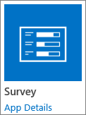 Survey app icon included with SharePoint