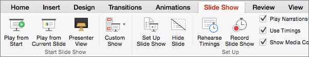 Slide Show tab