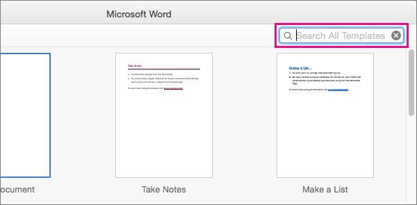 Create a booklet using a template in Word 2016 for Mac - Word for Mac