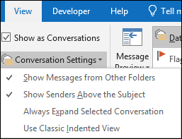 You can change several conversation options.