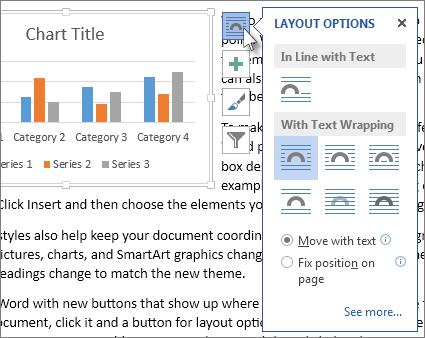 Chart layout options