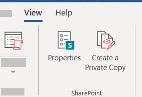Create a Private Copy button.