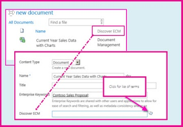 Managed metadata column