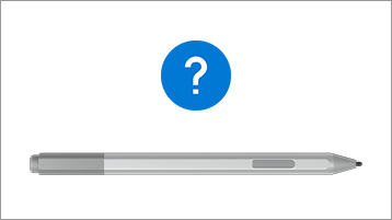 Surface Pen and question mark