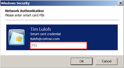 Enter smart card PIN dialog