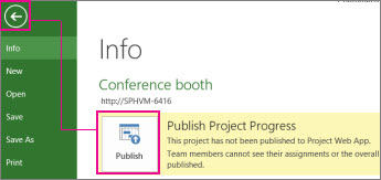 Publish a project image