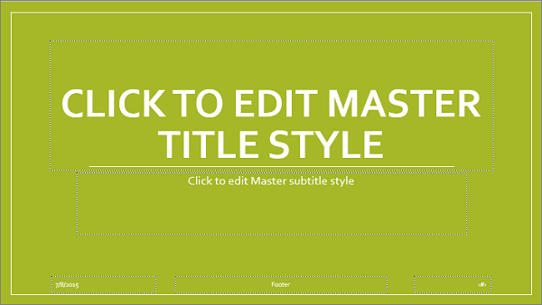 slide master layout in powerpoint