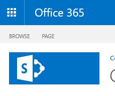 Partial screenshot of a SharePoint Online Site