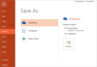 Save to my OneDrive