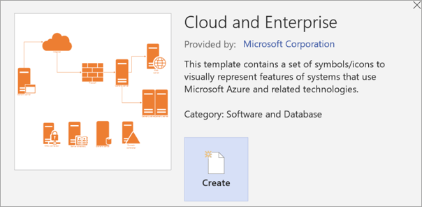 Use the Azure diagrams template - Visio