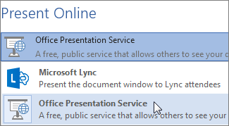 Present Online using Microsoft Lync