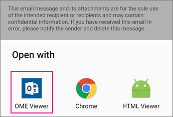 OME Viewer with Gmail on Android 2