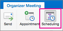 Mac 2016 Scheduling Button