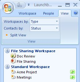 Workspaces categorized by type