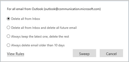 Use Sweep to organize your email