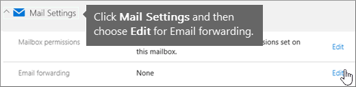 Choose Mail Settings and then choose Edit.