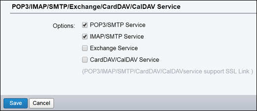 Select POP3/SMTP and IMAP/SMTP.