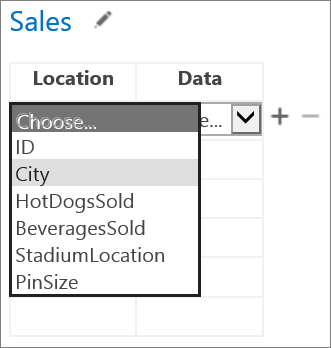 Choosing data for the App for Office to display in the Access app