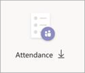 Attendance download button