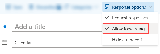 Use event toolbar to block forwarding