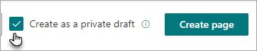 Create a private draft command
