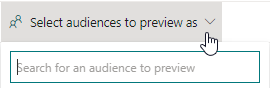 Select audience to preview